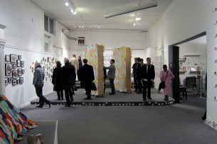 photos from the opening reception for Collections