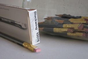 a collection of collectable Blackwing 602 pencils, some of which have been used down to under two inches in length