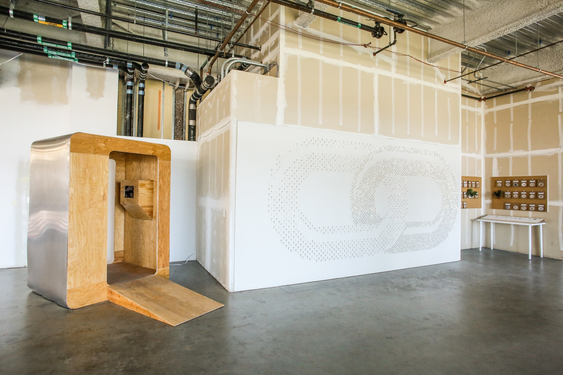 """We collaborated with artist Tara Shi to create this """"People's History"""" booth to gather oral histories of capitailsm."""